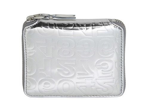 Comme des Garcons Silver Embossed Wallets