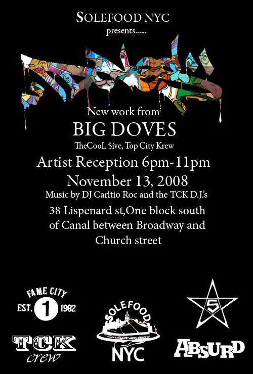"""""""DOVES"""" Exhibition presented by Solefood NYC"""