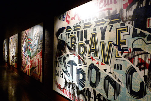 """FAILE   """"Lost In Glittering Shadows"""" at Lazarides Gallery"""