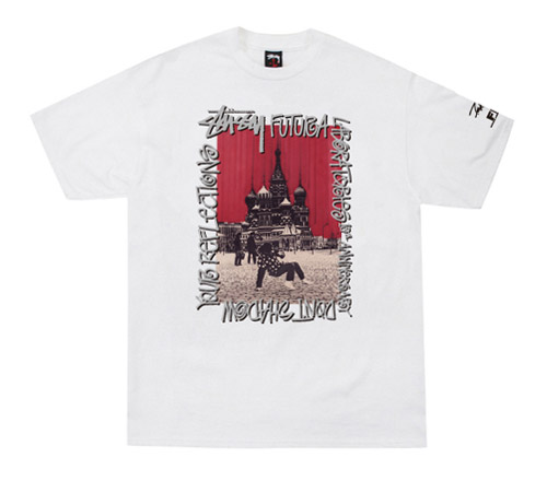 Futura Laboratories x Stussy 10th Anniversary Tees