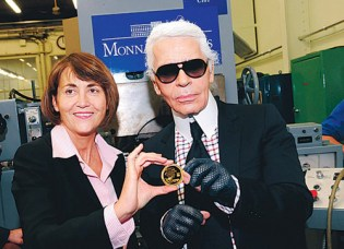 Gabriele Chanel 125th Anniversary Coin by Karl Lagerfeld