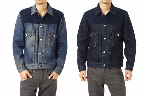 Levi's Fenom 2nd Type Navy Knit Custom Jacket