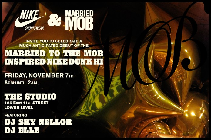 Married to the Mob x Nike Sportswear Dunk Debut Party