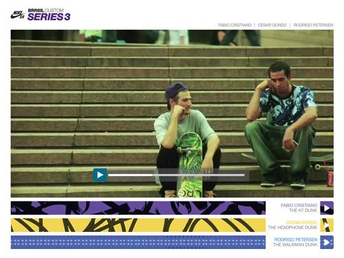 Nike SB Brazil Custom Series 3 Website