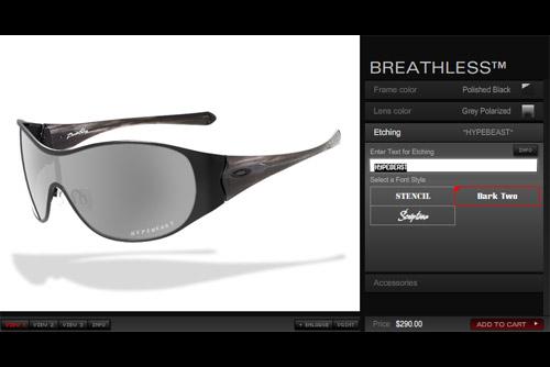 Oakley Custom Eyewear Program