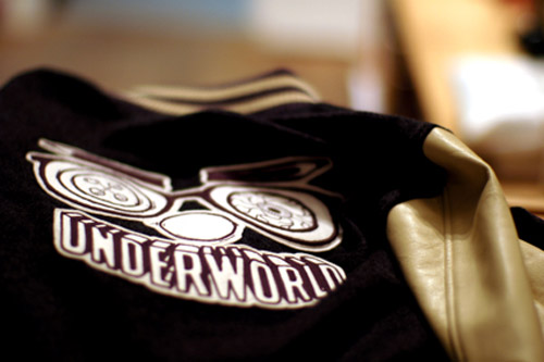 "SiLLY THING Cashmere ""Underworld"" Stadium Jacket"
