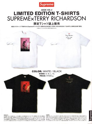 Terry Richardson x Supreme Limited Edition T-Shirts