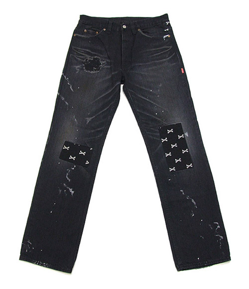 WTAPS No.5 Black Cross Bones Denim