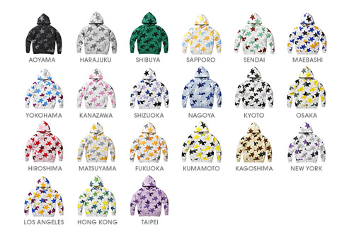 A Bathing Ape Shop Original STA Parka Hoodies