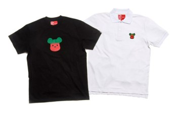 Medicom Toy x CLOT Strawberry & Watermelon Polo   T-shirt
