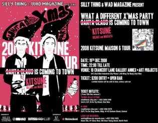 WAD Magazine x Kitsune x SiLLY THING X-Mas Party