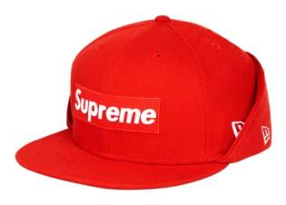 Supreme Box Logo Fleece New Era Fitted Cap
