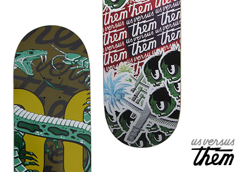 Us Versus Them 2008 Holiday Skate Decks
