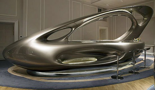 "Zaha Hadid's ""Space Bar"" at Home House London"