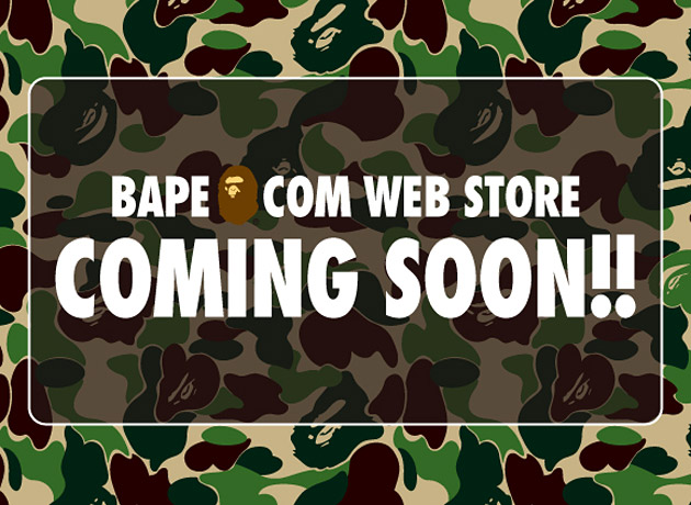 A Bathing Ape Online Store Announcement