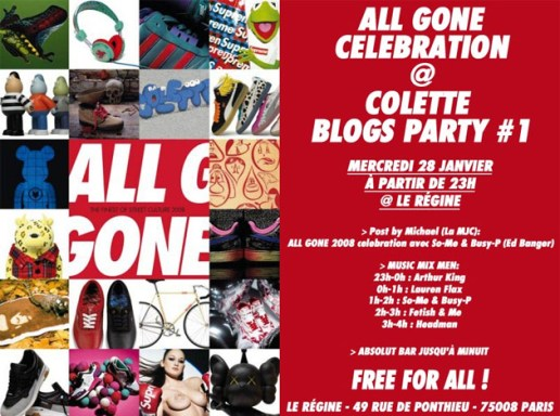 All Gone Launch Party with colette