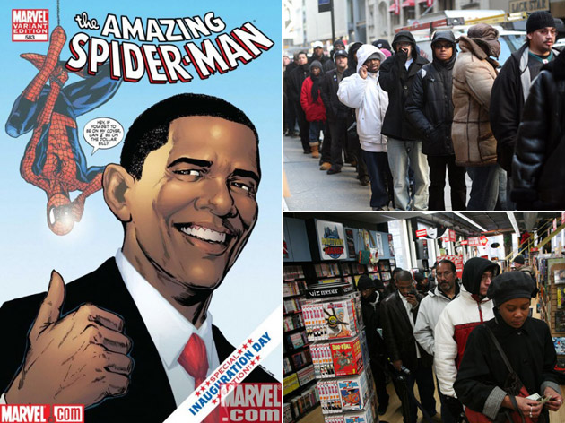 Barack Obama x The Amazing Spider-Man Comic Book Release