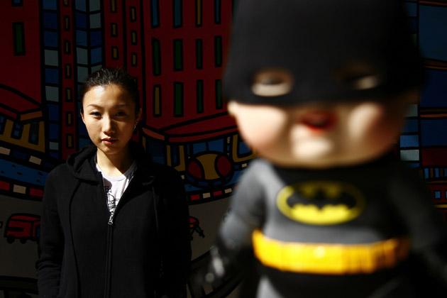 Batman x Shopping Baby Vinyl by Dorophy Tang