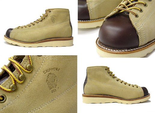 "Chippewa 5"" Lace to Toe Sand Suede Boot"