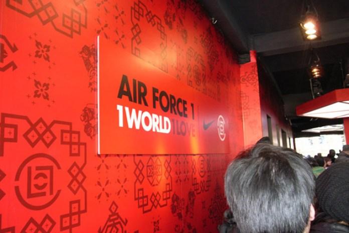 CLOT x Nike 1World Air Force 1 Release in Shanghai
