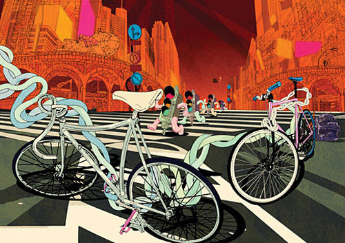 ilovedust Bicycle Illustration Prints