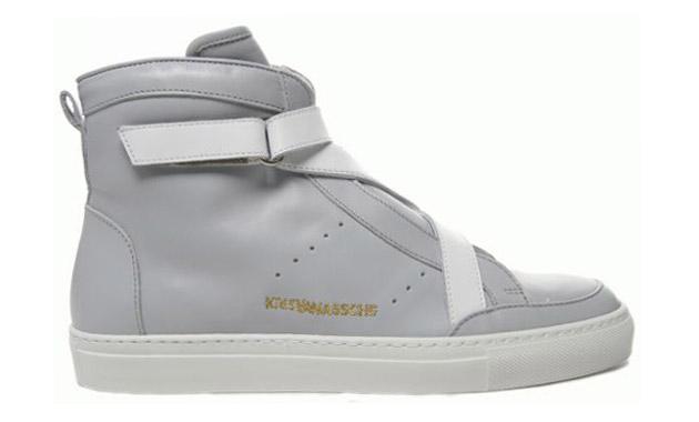 Kris Van Assche Ankle Leather Sneakers