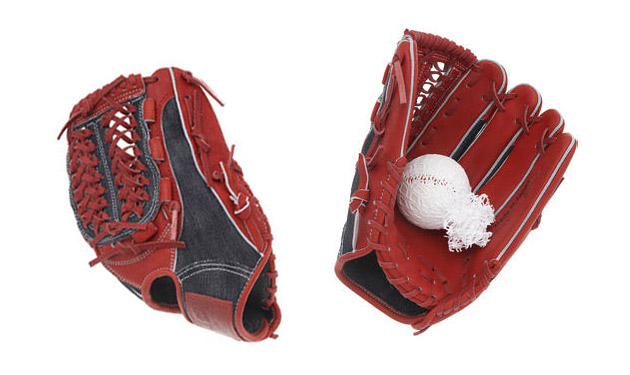 Naked & Famous Selvedge Denim Baseball Glove
