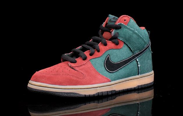 Nike SB Dunk High Green Denim