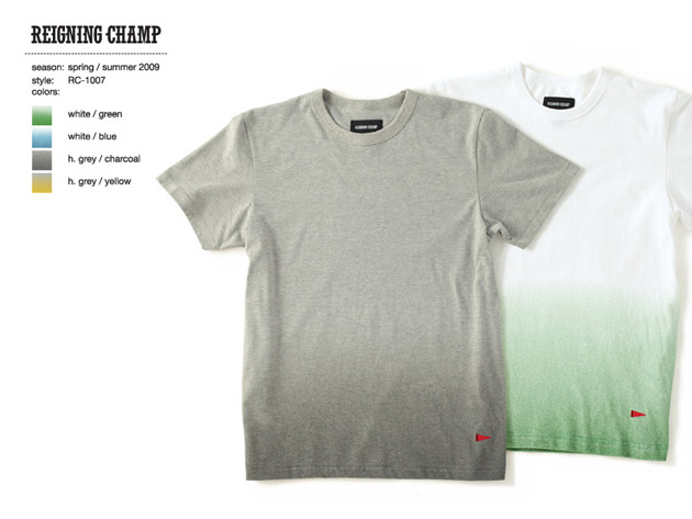 Reigning Champ 2009 Spring/Summer Collection