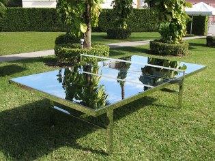 Rirkrit Tiravanija: Reflection Ping Pong Table