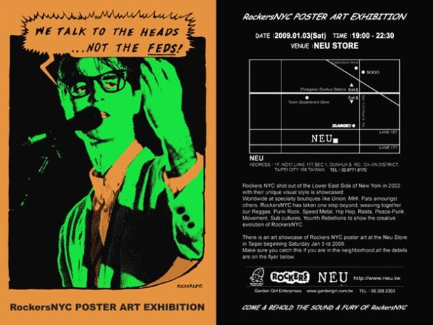RockersNYC Poster Art Exhibition at NEU