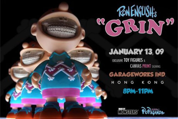 Ron English Art Print Exhibition & Charlie GRIN Toy Release at Garageworks Gallery