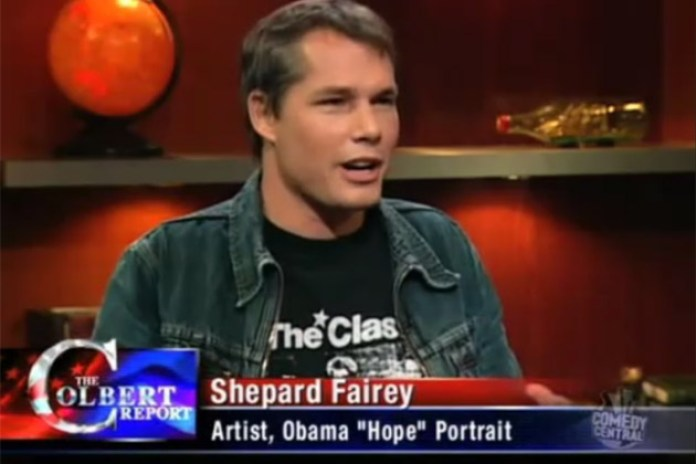 Shepard Fairey on the Colbert Report