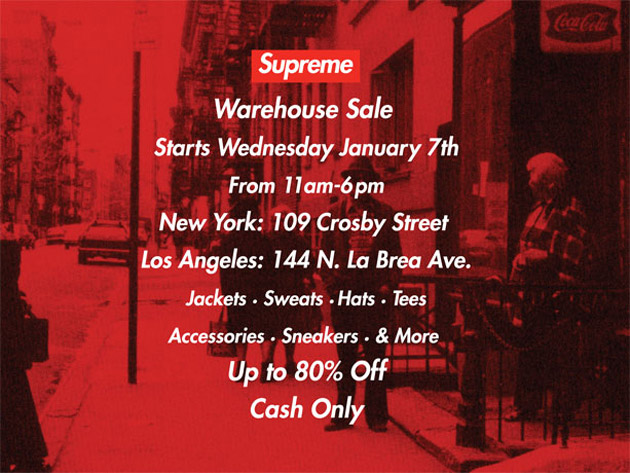 Supreme Warehouse Sale