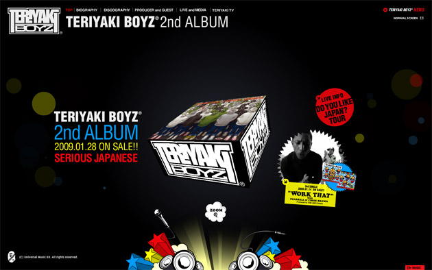 """Teriyaki Boyz's """"Serious Japanese"""" Album Website"""