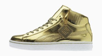 Undefeated x PUMA 24k Mid Gold Version - A Closer Look