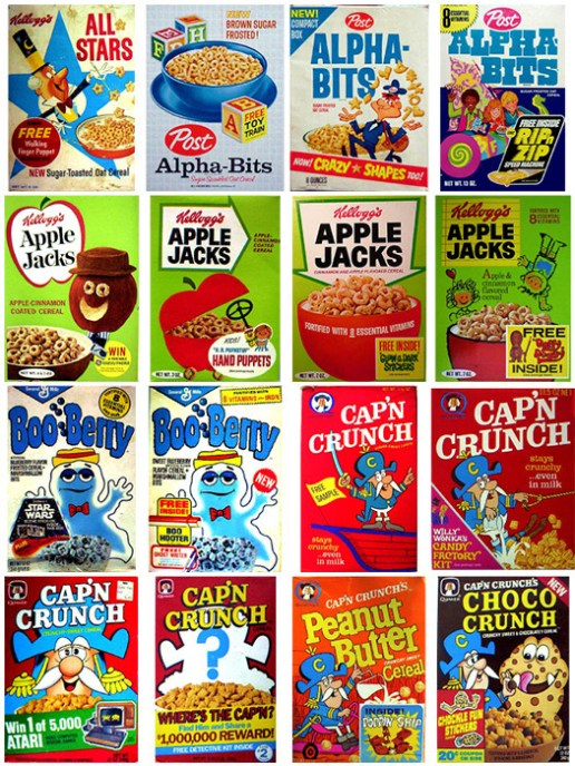 Vintage Cereal Box Designs