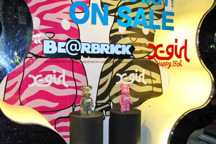 X-girl Japan 15th Anniversary Bearbricks