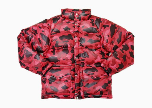 A Bathing Ape 15th Anniversary Camo Leather Down Jacket