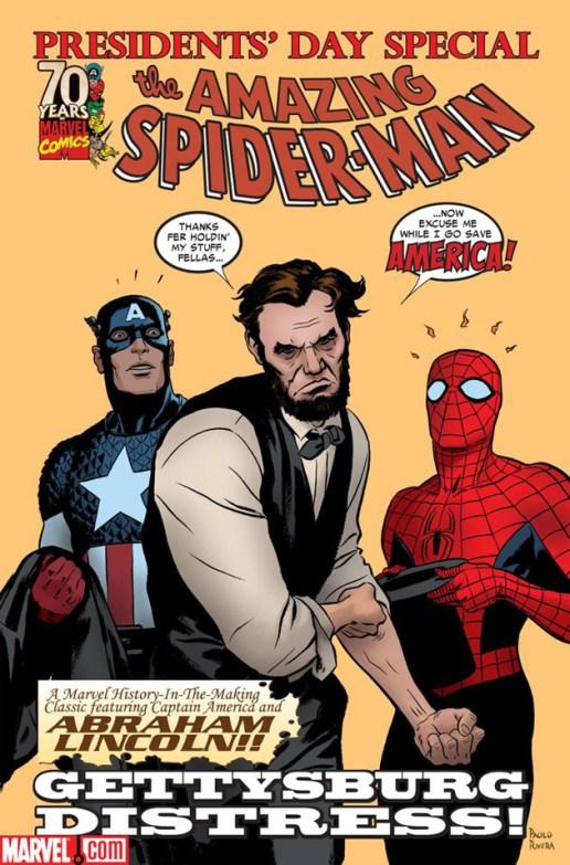"Abraham Lincoln x The Amazing Spider-Man ""Gettysburg Distress"""