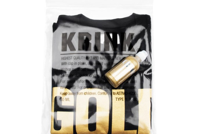 ALIFE x KRINK Gold T-Shirt & Ink