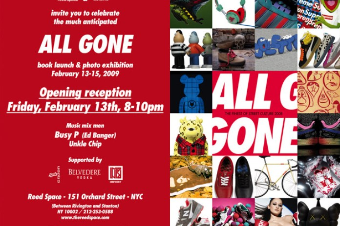 All Gone NYC Book Launch & Photo Exhibition