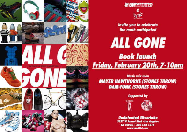 All Gone x Undefeated Silverlake Book Launch