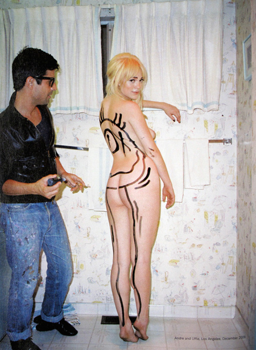Andre Paints Uffie in i-D Magazine Feature
