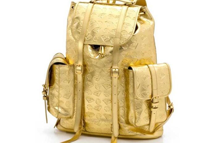 "BBC | Ice Cream Gold ""Diamond & Dollars"" Backpack"