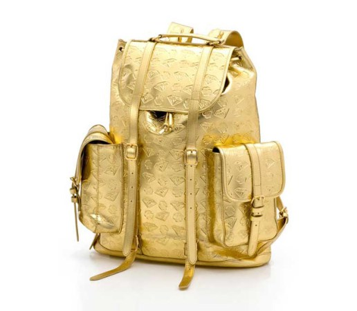 "BBC | Ice Cream Gold ""Diamond & Dollars"" Backpack"