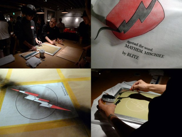 Blitz Silkscreen Workshop at Black Flag Tokyo