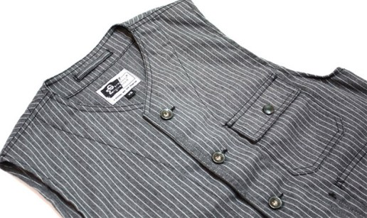 Engineered Garments Gangster Stripe Vest