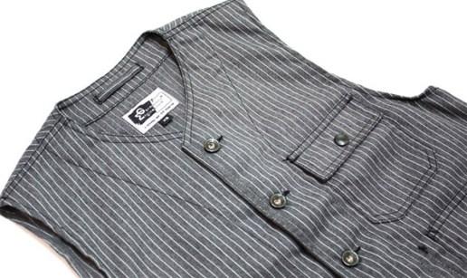Engineered Garments Gangster Stripe Vest