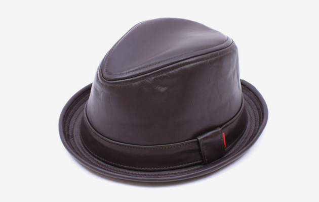 Intention x Bedwin Leather Stingy Hat